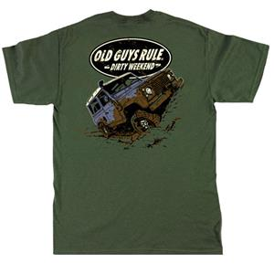 Old Guys Rule - Dirty Weekend T-Shirt Green LARGE