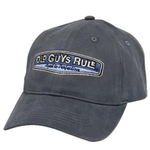 Old Guys Rule Rear View Aged To Perfection Cap Grey