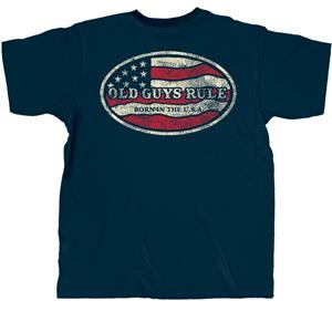 Old Guys Rule - Born In The USA T-Shirt Dark Blue 2X-LARGE