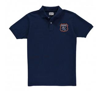 Dodge Hemi Garage Crest Polo Shirt Navy Blue 2X-LARGE
