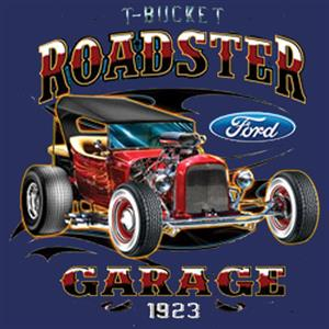 Ford T-Bucket Roadster Garage Singlet Blue 2X-LARGE