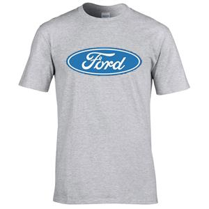 Ford Blue Oval T-Shirt Grey LARGE