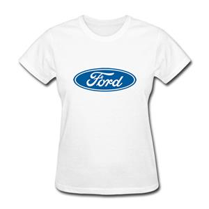Ford Logo (Medium) T-Shirt White LADIES 3X-LARGE