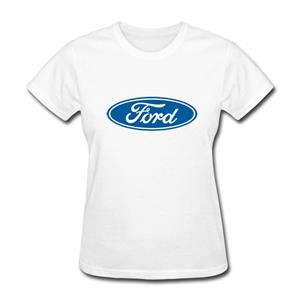 Ford Logo (Medium) T-Shirt White LADIES LARGE