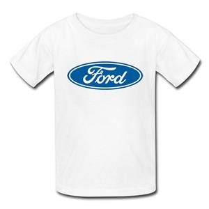 Ford Logo (Medium) T-Shirt White YOUTH SMALL