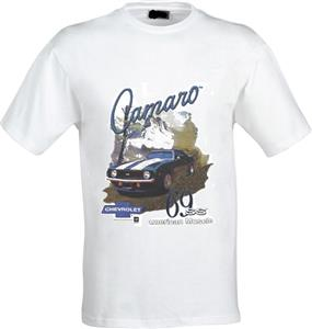 Camaro 69 SS American Muscle T-Shirt White LARGE