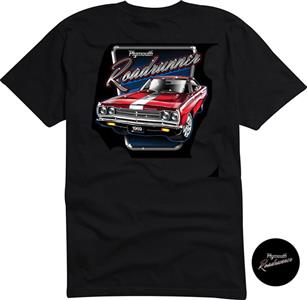 Plymouth Roadrunner T-Shirt Black 2X-LARGE