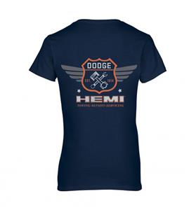 Dodge Hemi Garage T-Shirt Dark Blue LADIES 2X-LARGE