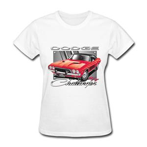 Dodge Challenger R/T T-Shirt White LADIES MEDIUM