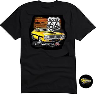 Dodge Charger R/T Route 66 T-Shirt Black MEDIUM
