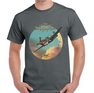 Curtiss P-40 Warhawk - The Flying Tigers T-Shirt Grey 2X-LARGE
