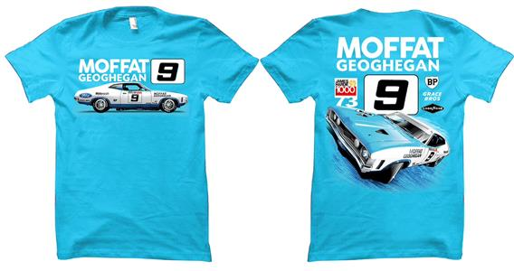 Allan Moffat Ford Falcon XA T-Shirt Blue MEDIUM