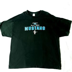 Mustang Since 1964 T-Shirt Black 3X-LARGE