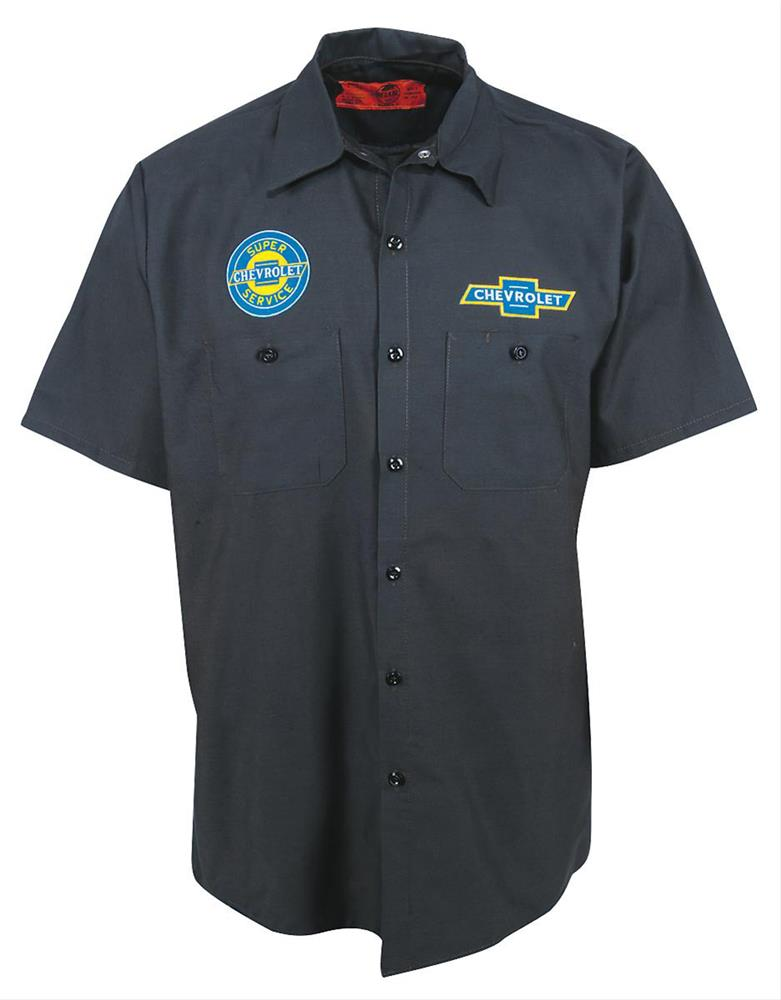 Chevrolet Crew Shirt Grey 2X-LARGE - Click Image to Close