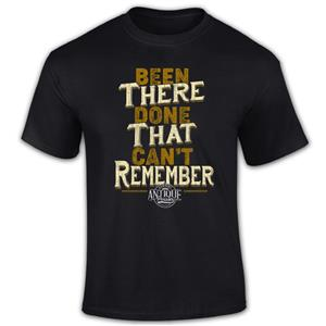 Been There Done That Can't Remember T-Shirt Black MEDIUM