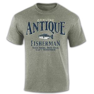Genuine Antique Fisherman T-Shirt Green MEDIUM