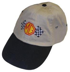 MG Chequered Flag Cap Stone/Black