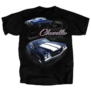 Chevelle Engine Block T-Shirt Black X-LARGE