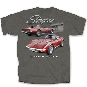 Chevrolet Corvette C3 Stingray Garage T-Shirt Grey MEDIUM