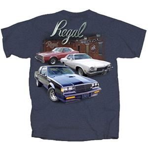 Buick Regal Garage T-Shirt Blue X-LARGE DUE LATE 2018