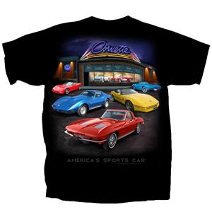 Corvette Showroom T-Shirt Black 2X-LARGE