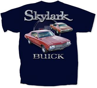 Buick Skylark T-Shirt Navy Blue LARGE