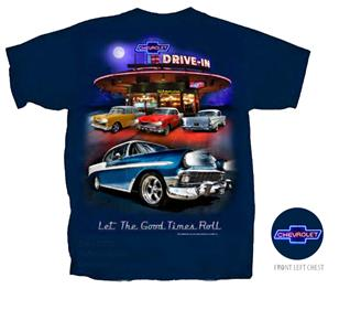 Chevrolet Nighttime Drive-In T-Shirt Dark Blue Large