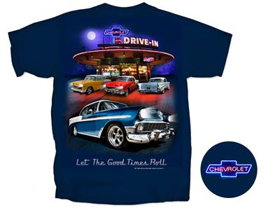 Chevrolet Nighttime Drive-In T-Shirt Dark Blue 2X-Large