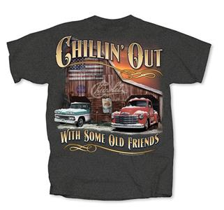Chevy Trucks - Chillin Out T-Shirt Grey 3X-LARGE