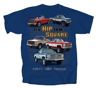 Chevy Trucks - It's Hip To Be Square T-Shirt Blue MEDIUM DUE LATE 2019