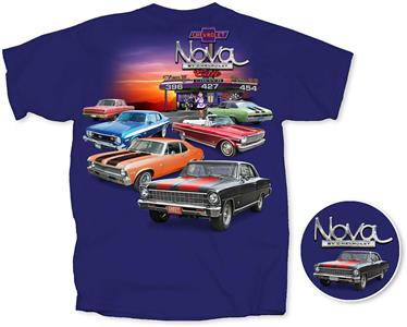 Chevrolet Nova Cafe T-Shirt Midnight Blue X-LARGE