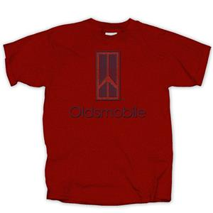 Oldsmobile Distressed Logo T-Shirt Red X-LARGE DUE 2019