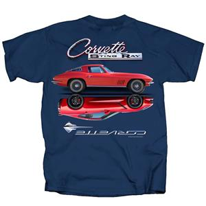 Chevrolet Corvette Stingray Reflection T-Shirt Blue 3X-LARGE
