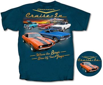 Chevrolet Cruise In Show Off T-Shirt Midnight Blue 2X-LARGE