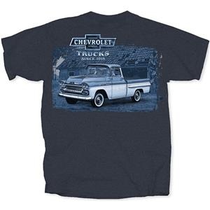 Chevy Pickups Tonal T-Shirt Blue MEDIUM