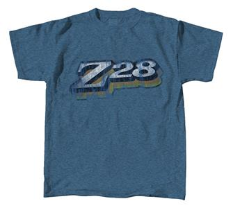 Z28 Camaro Logo T-Shirt Blue 2X-LARGE