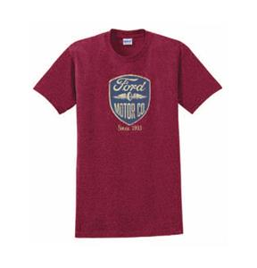 Ford Motor Co Wings Badge T-Shirt Red LARGE