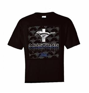 Ford Mustang Triple Threat T-Shirt Black 2X-LARGE