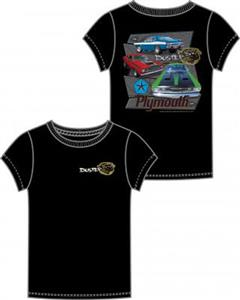 Plymouth Duster T-Shirt Black LARGE