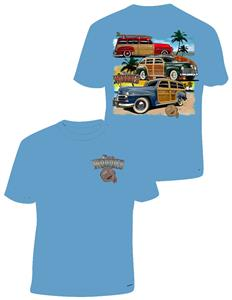 Plymouth Woodies T-Shirt Blue LARGE