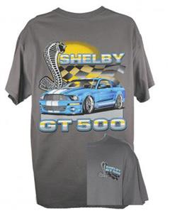 Ford Shelby GT500 Mustang Flags T-Shirt Grey X-LARGE