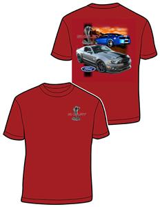 Ford Shelby Super Snake Mustang T-Shirt Red X-LARGE