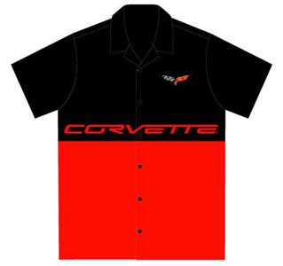 Corvette C6 Split Colour Crew Shirt LARGE