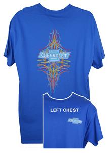 Chevrolet Pinstripe T-Shirt Blue X-LARGE
