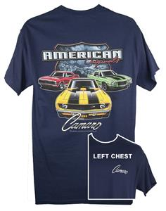 Camaro American Originals T-Shirt Blue 2X-LARGE