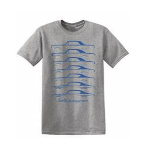 Chevrolet Chevelle Evolution T-Shirt Grey 3X-LARGE