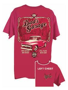 Dads Garage Ford Truck T-Shirt Red 3X-LARGE