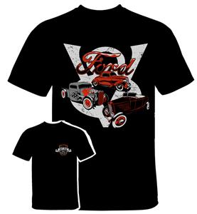 Ford Hot Rods 3 T-Shirt Black 3X-LARGE
