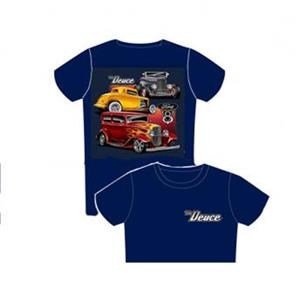 Ford The Deuce T-Shirt Blue LARGE