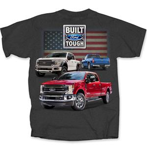 Ford 2020 F-Series Trucks Flag T-Shirt Red Grey 2X-LARGE